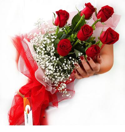 доставка цветов Белек 7 Красных Роз