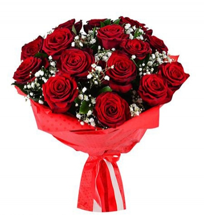доставка цветов Белек Букет из 15 красных роз