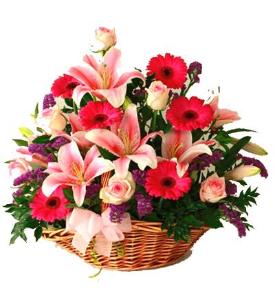 karma Çiçek buketi Mevsim Çiçekleri Aranjmanı