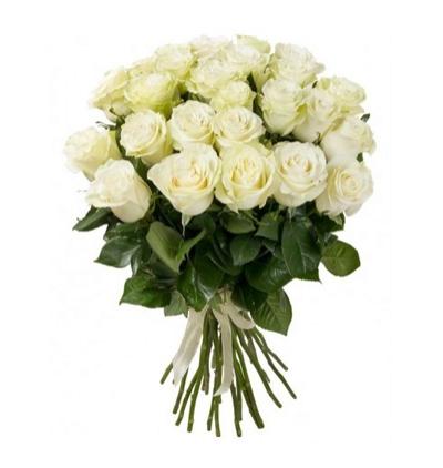 101 kırmızı beyaz güller 19 Beyaz Gül Buketi