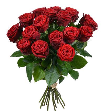 доставка цветов Белек Букет из 17 красных роз