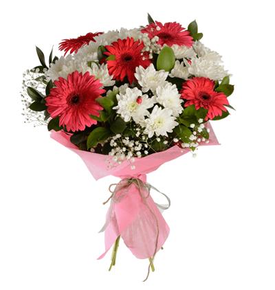 доставка цветов Белек Букет из гербер