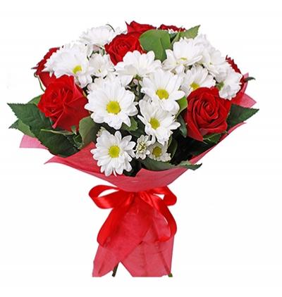 karma Çiçek buketi Gül ve Krizantem Buketi