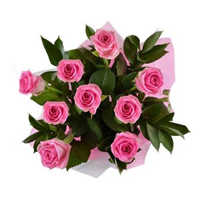 101 kırmızı beyaz güller 9 Pembe Gül Buketi