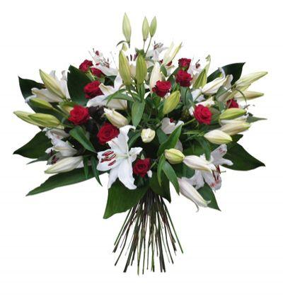 karma Çiçek buketi Lilyum ve Güllerden Buket