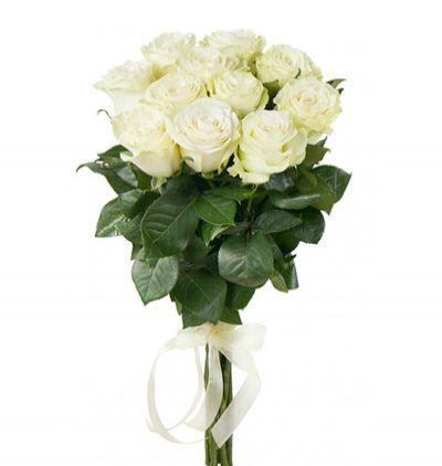 blumen in belek 11 Weiße Rosen Bouquet